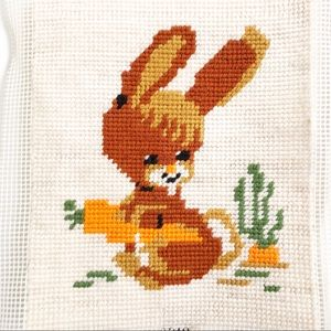 Adorable Vintage Easter Bunny Cross Stitch